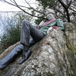 Dublín. Estatua de Oscar Wilde, Merrion Square Park