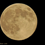 Superluna del 10 de agosto de 2014 vista desde Sevilla