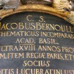Epitaph für Jakob Bernoulli