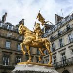 París. Estatua ecuestre de Juana de Arco, Place des Pyramides